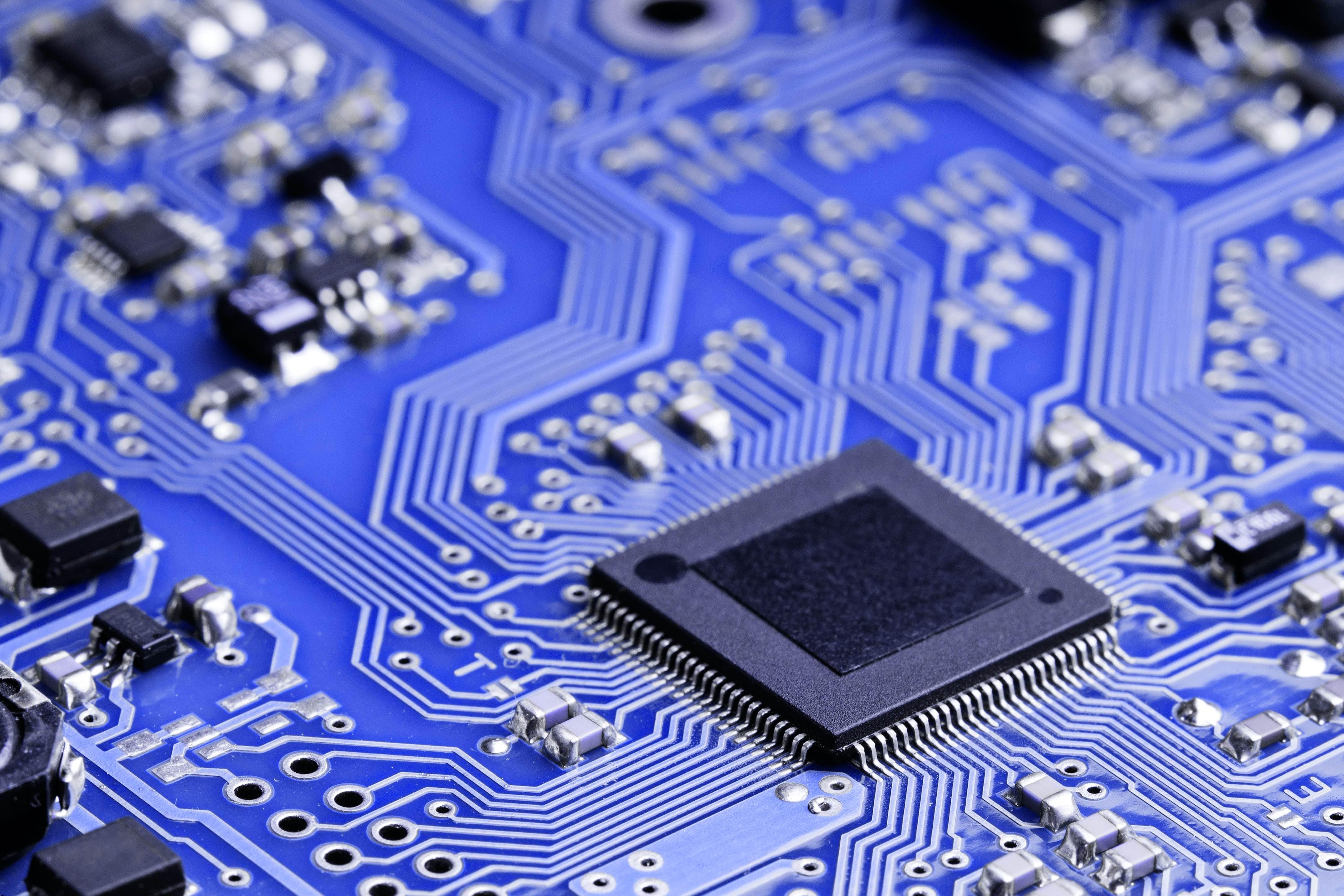 Microchip on electronic board 333820